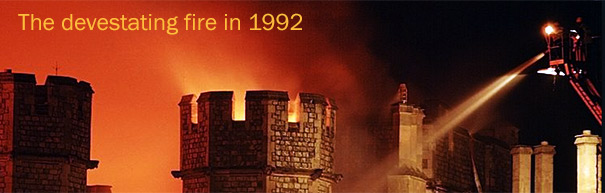 windsor castle on fire 1992